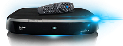 Dstv Explora Decoder model 1a with a remote control