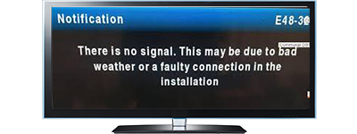 TV showing Dstv no signal notification Dstv installation